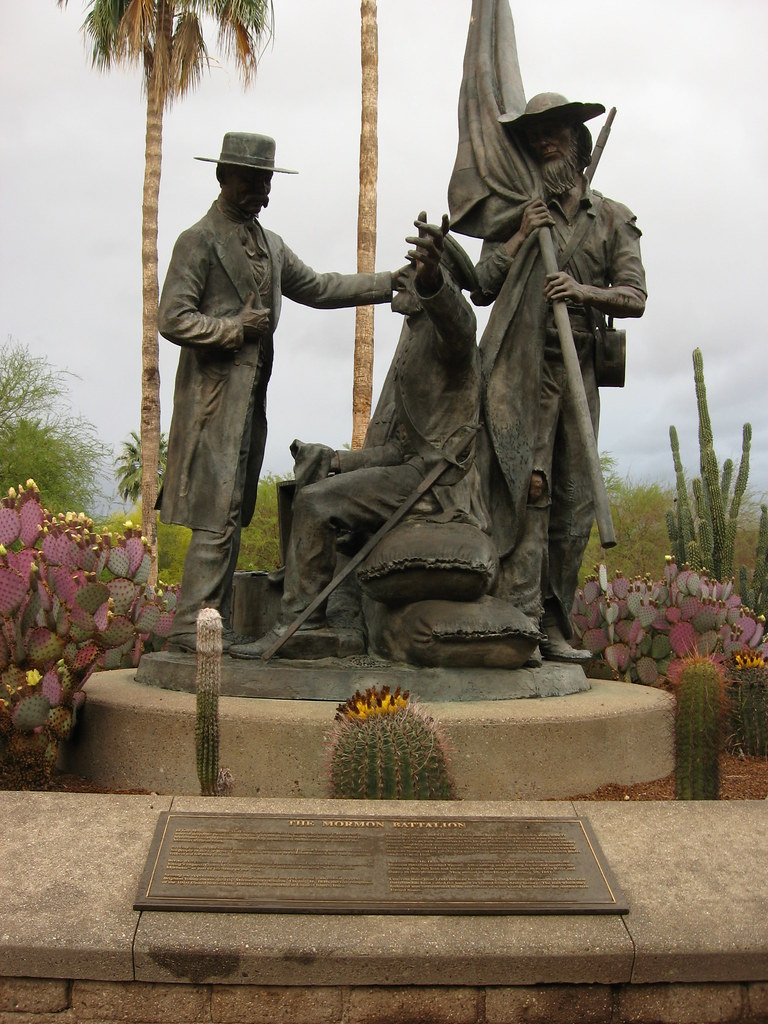 Mormon Battalion Monument, El Presidio Park, near Pima County Courthouse, Tucson, Arizona (2)