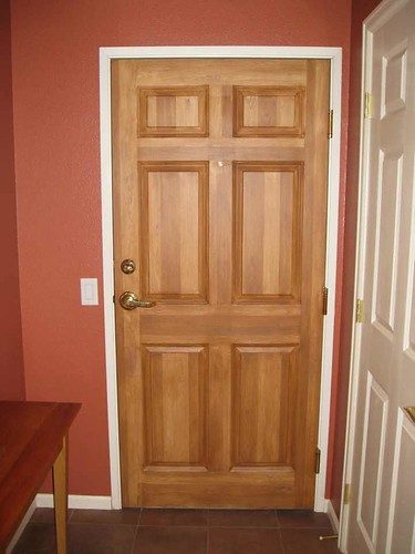Faux wood front door