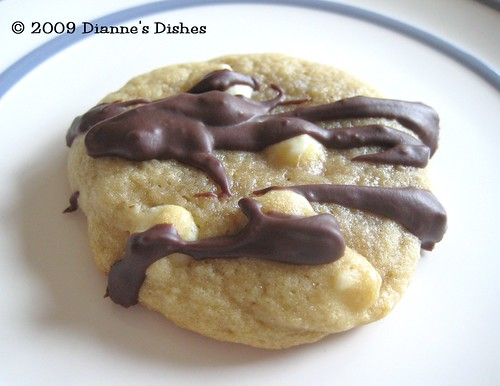 White Chocolate Drizzle Cookies