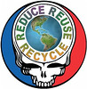 Grateful Dead Reduce Reuse Recycle Steal Your Face for Earth Day