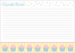 Recipe Card - Cupcake