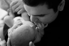 Father And Son (John Lemieux) Tags: auto portrait baby white black lens 50mm nikon focus f14 father son manual nikkor hdr ai nikkors 14 d40x cmwdblackandwhite