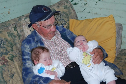 Alex and Adam with Great Grandpa