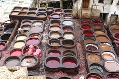 Dye Vats - Chouwara Tannery, Fez Medina (BlueVoter - thanks for 1.6M views) Tags: morocco fez medina fes tannery