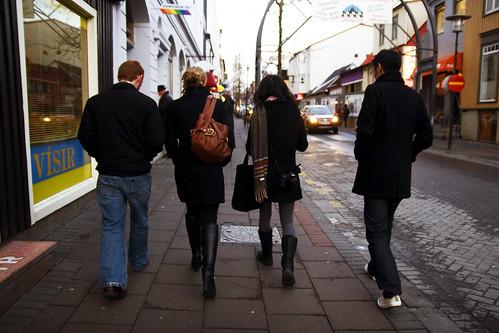 walking up laugavegur
