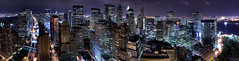 West Street Facing Uptown Take-01 (Eli Mergel) Tags: nyc newyork skyline nightlights rooftops manhattan uptown citylights eastriver empirestate hudson weststreet nightline batterycity