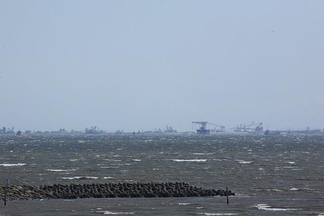 東京湾上の混雑