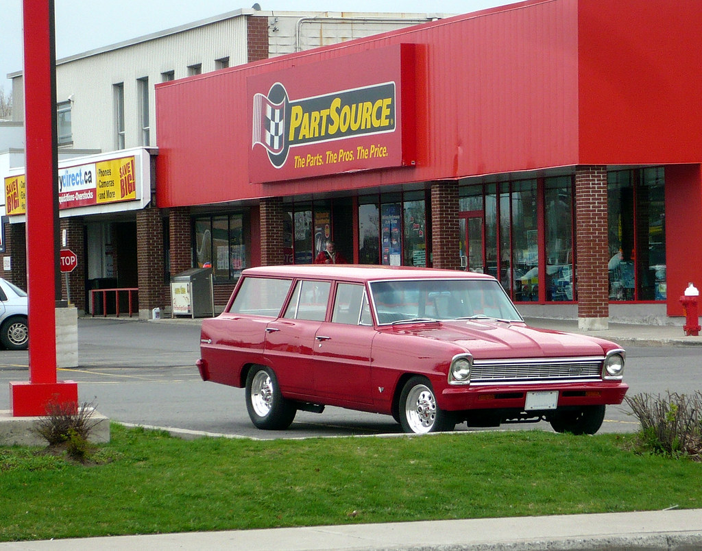 An early 1960's Chevy II station wagon. (Chevrolet Nova)