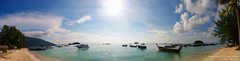 Panorama White Sand Beach With Sunshine At Leephae Island Satul Thailand /   (AmpamukA) Tags: panorama white beach sunshine thailand island sand with soe satul  at mywinners    ampamuka leephae