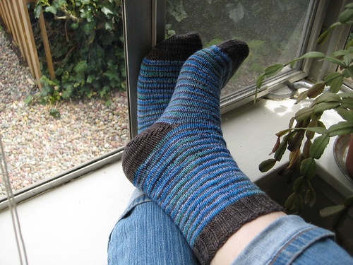 Remnant stripy socks