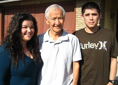 me, grandpa and kev (_melika_) Tags: family vacation dad brother visit mothersday grandpashouse lapalmaca