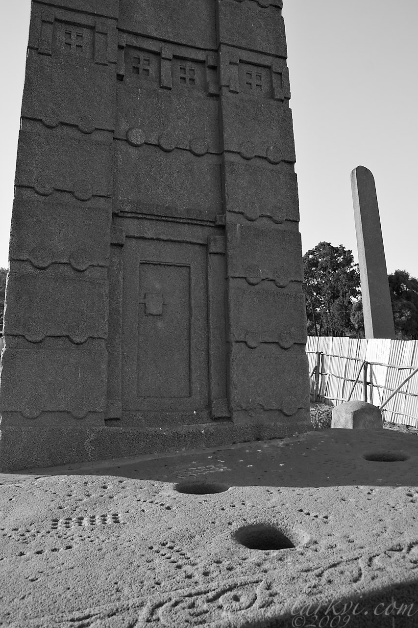 Base, Stela 3, Axum, Tigray, Ethiopia, May 2009