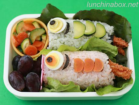 Children's Day sushi bento lunch for preschooler