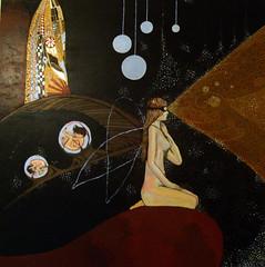 The Lighthouse Lady (Kenny Mc) Tags: woman lighthouse lady angel painting naked nude design acrylic klimt fertility kenny phallic mcalpine