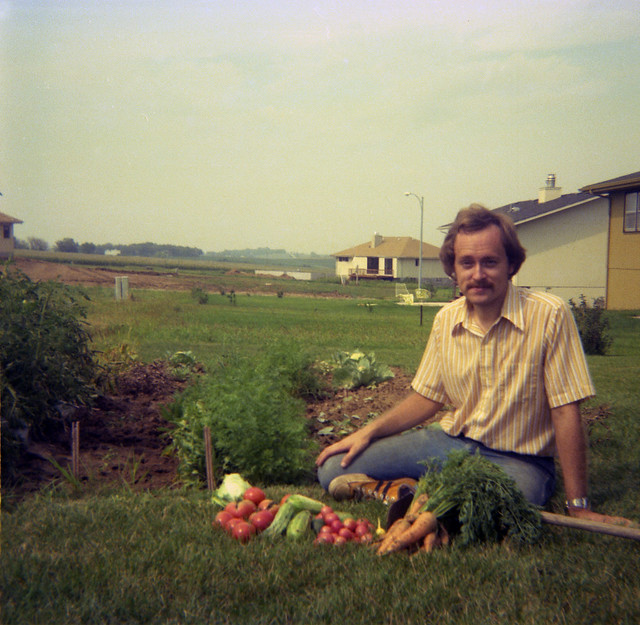 1977-1978 Thede - Trip With Ekwall Family 10 - Larry Dale Thede and His Crops