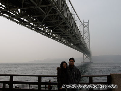 Another picture of us showing more of the bridge