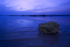 So peaceful (YOUSEF AL-OBAIDLY) Tags: beach rock sunrise