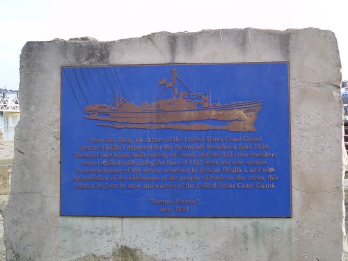 Poole, UK Coast Guard plaque