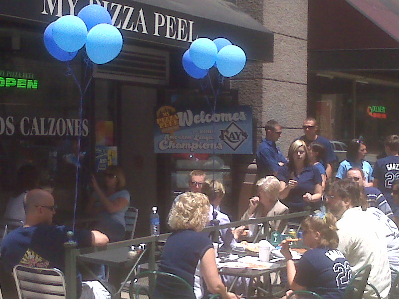 Free Pizza For Rays Fans: Photo Evidence