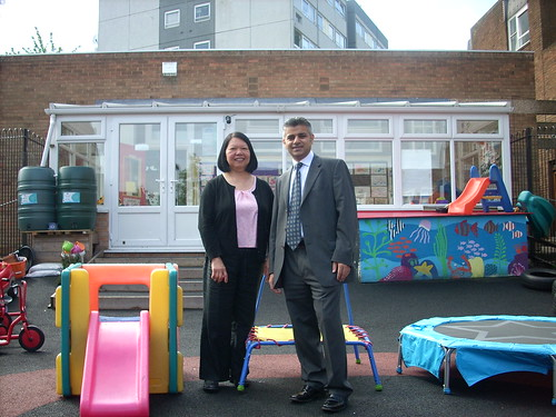 At the Rydevale Nursery to celebrate 3000 Sure Start Centres opened in the UK