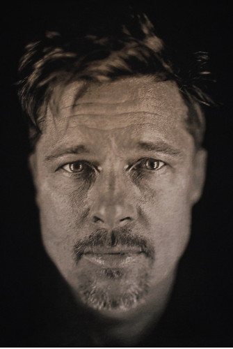 Brad Pitt Tapestry by Chuck Close by picasnpoints