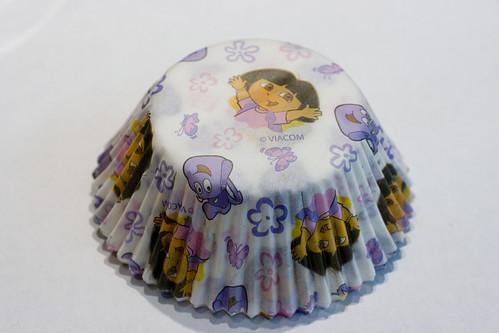 多拉探险家杯蛋糕内衬