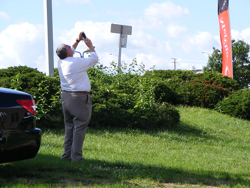 Photographing The American Flag, Montgomery Auto Park