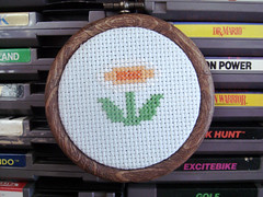 Fire Flower (benjibot) Tags: crossstitch crafts videogames nes supermariobros