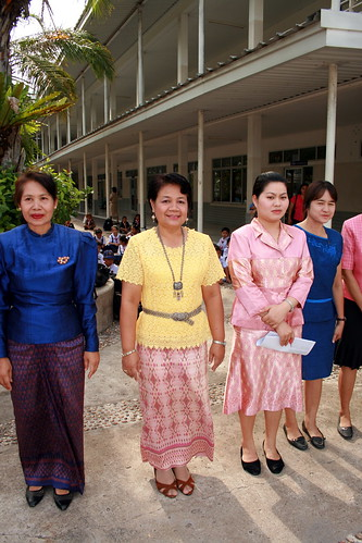Thai Teachers in Beautiful Thai Silk