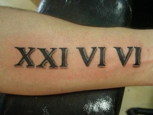 roman numerals tattoos. Roman Numeral Tattoo
