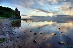 Castle view (~Glen B~) Tags: sea sky castle beach clouds reflections coast ruins dusk shingle shore ayr derelict crumbling ayrshire greenan perfectescapes RedBubble:id=38778482castleview