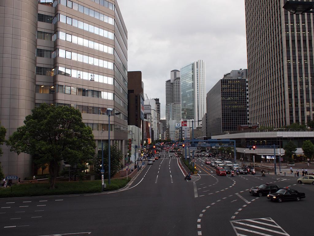 cloudy summer's dusk @Umeda, Osaka 2