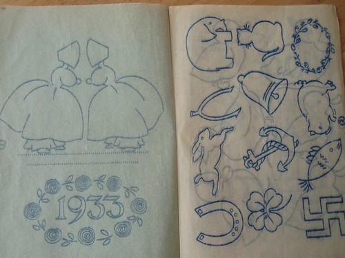 Embroidery transfers from 1930s