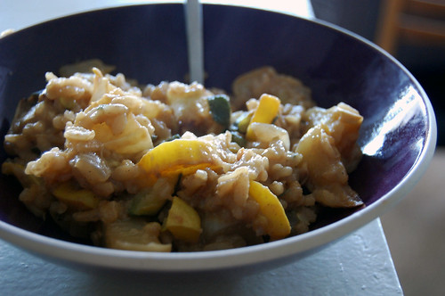 summer squash risotto