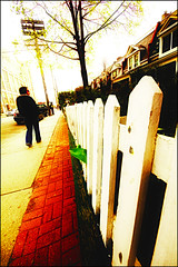 ...on a hill with a white picket fence. (Daifuku Sensei) Tags: toronto nikon mariko whitepicketfence hdr d300 sigma1020mm photomatix roncasvalles singleexposurehdr