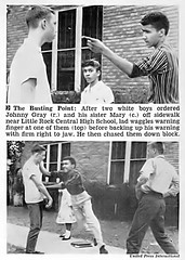 Johnny Gray and Sister Mary Settle A Racial Disagreement in Little Rock - Jet Magazine, October 2, 1958 (vieilles_annonces) Tags: old people usa black history vintage magazine print scans fifties photos african negro retro ephemera nostalgia photographs american 1950