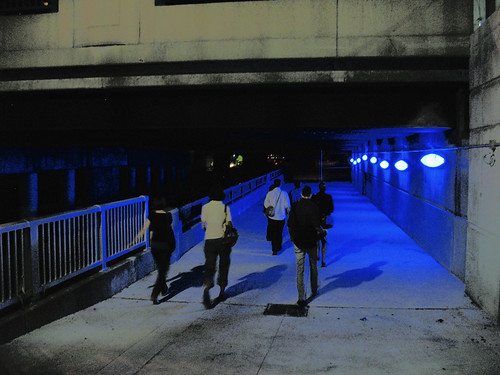 Underpass of Blue Lights (1)