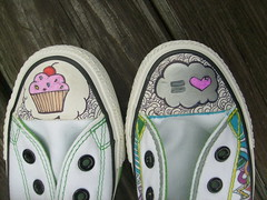doodled chucks (Sarahbella3) Tags: art shoes converse sharpie chucks doodled