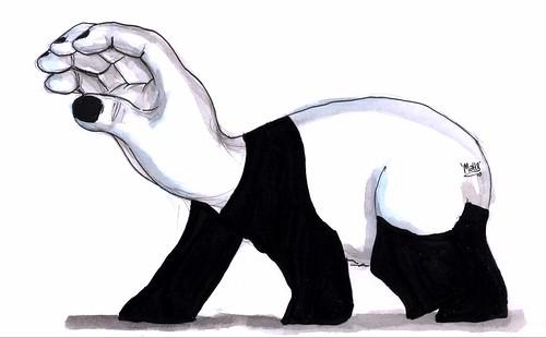 hand-panda