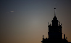 Travel... (M. Misheel) Tags: blue sky black plane