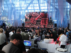 E3 2011 - Lord of the Rings War in the North concert (Doug Kline) Tags: choir booth la losangeles concert expo wb center lobby videogames entertainment electronics orchestra convention lordoftherings e3 warnerbros choral southhall 2011 warinthenorth