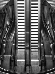 (Stefano Paganini) Tags: blackandwhite bw paris stairs robot mechanical metro parigi iphoneography uploaded:by=flickrmobile flickriosapp:filter=nofilter
