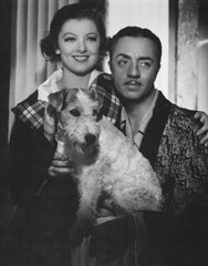 Myrna Loy (Nora) & William Powell (Nick) in The Thin Man (1934) (movies&movies2) Tags: dog nick nora 1934 classicmovie myrnaloy thethinman classicfilm williampowell classiccinema cinemalasuperlativ filmefavoritecornel