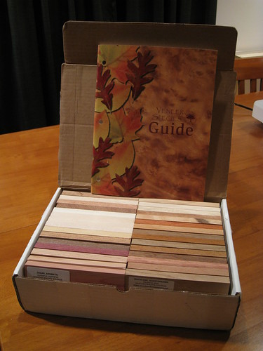 30 IWCS-sized wood samples from Woodworkers Source w/ veneer guide
