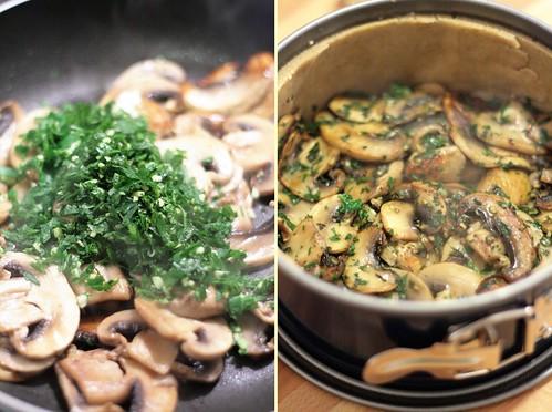 Champignons poêlés, ail & persil