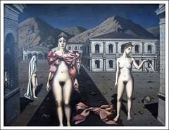"""Paul Delvaux """"De roze strikken"""" 1937 - by Martin Beek"""