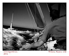 08americascup01 (lagrasia) Tags: sea beach mar barco ship navegar navigation nautica