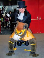 Zatana rides a super horse!