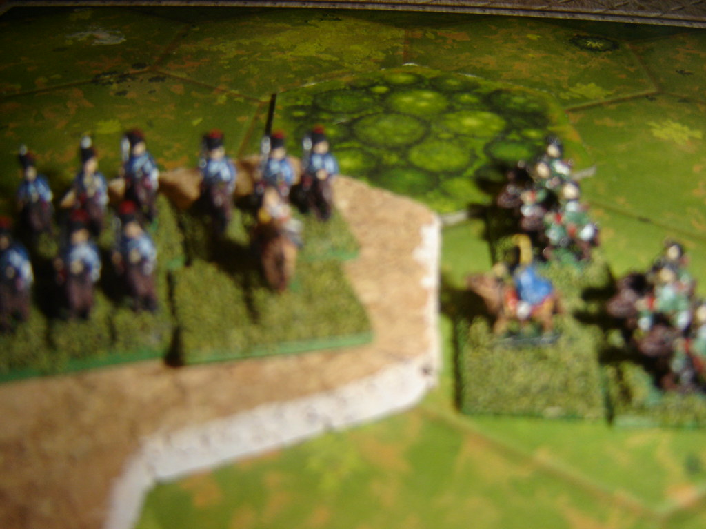 Fierce calvary fight on French left flank
