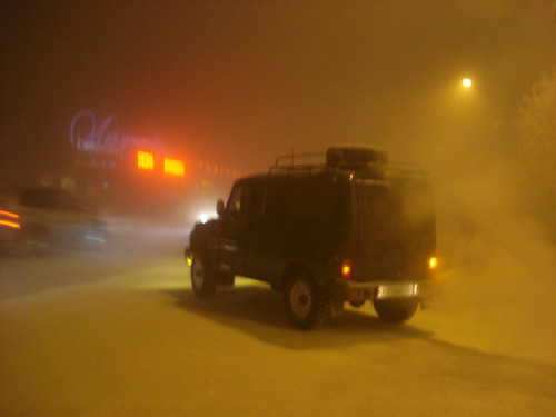 An UAZ car when it was -50C in Yakutsk, Yakutia/Siberia, Russia